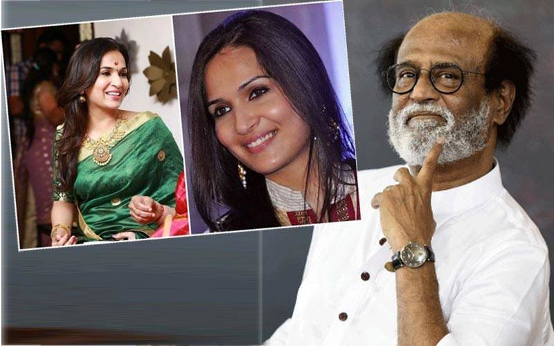 रजनीकांत और उनकी बेटी सौंदर्या