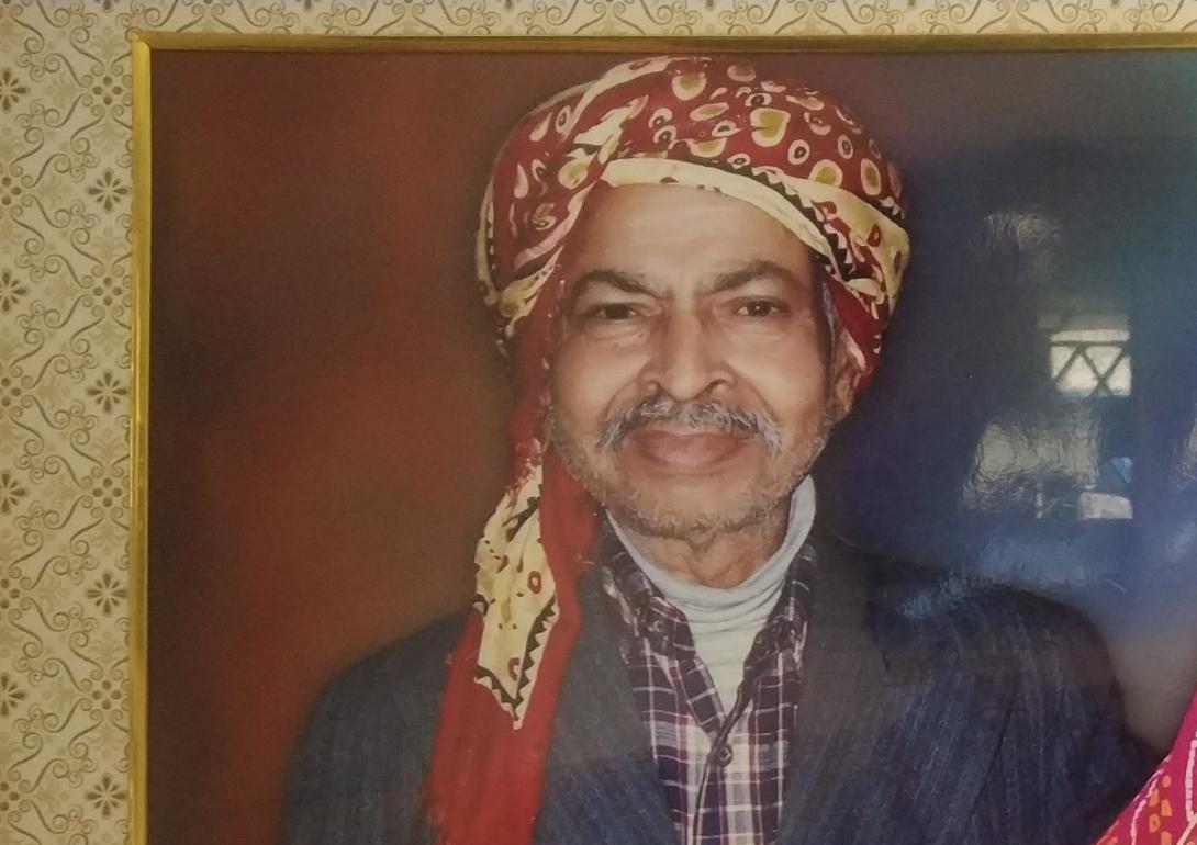 दुर्गा मंदिर के संस्थापक सदस्य रामजतन विश्वकर्मा