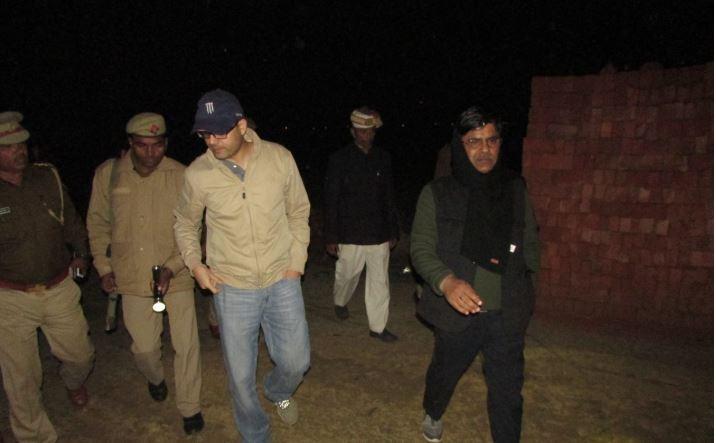 जांच में पहुचे एसपी रोहित सिंह सजवान