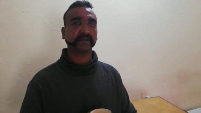 भारतीय विंग कमांडर अभिनंदन वर्तमान