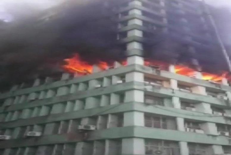 सीजीओ कॉम्प्लेक्स में लगी भीषण आग