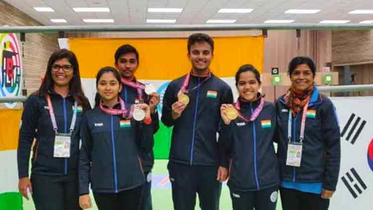 एशियाई एयरगन चैंपियनशिप में भारत को 16 स्वर्ण