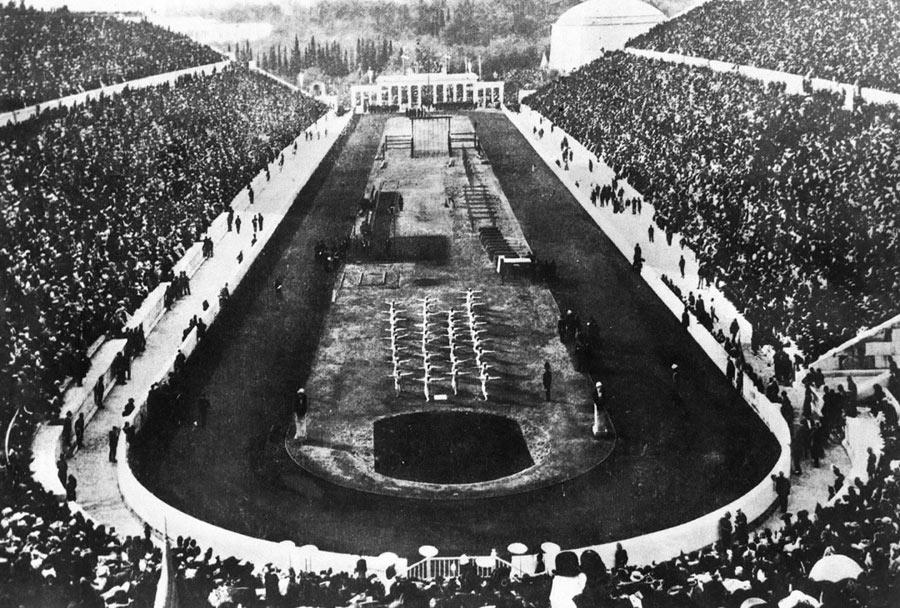 आधुनिक ओलंपिक खेलों की यूनान के एथेंस में शुरूआत