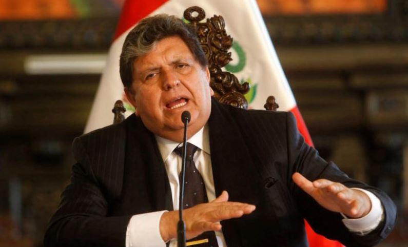 पेरू के पूर्व राष्ट्रपति एलन गार्सिया