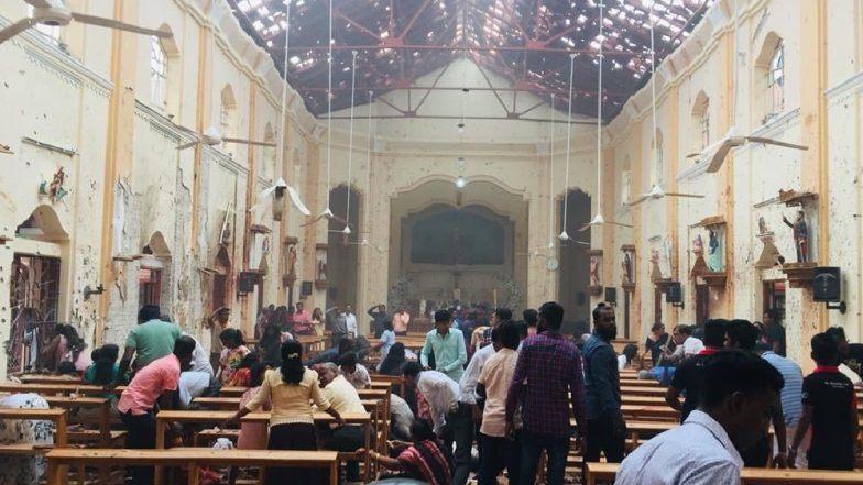 चर्च में हुए विस्फोट के बाद का दृश्य