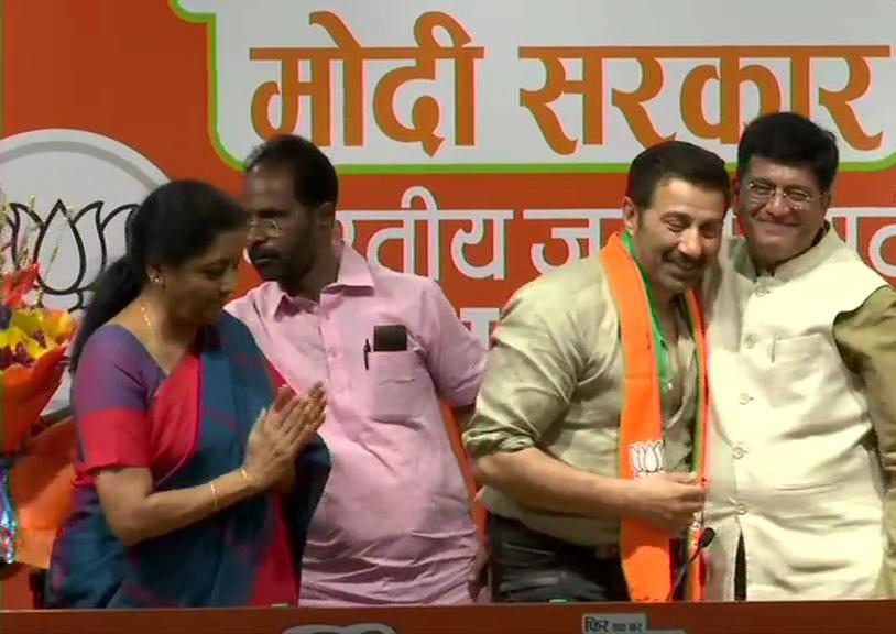 सनी देओल भारतीय जनता पार्टी में शामिल