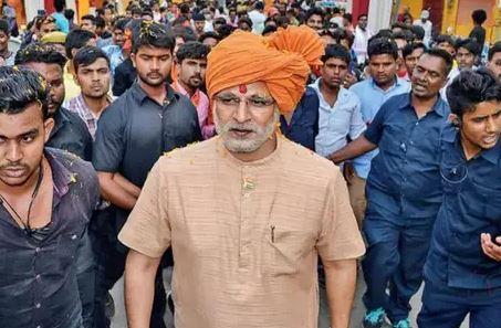 प्रधानमंत्री नरेंद्र मोदी पर बन रही बायोपिक से संबंधित फोटो