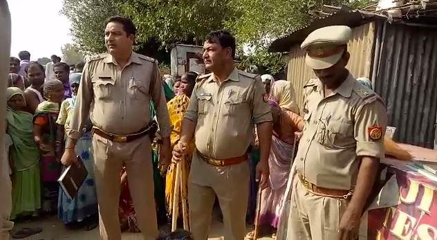 मौके पर पहुंची पुलिस