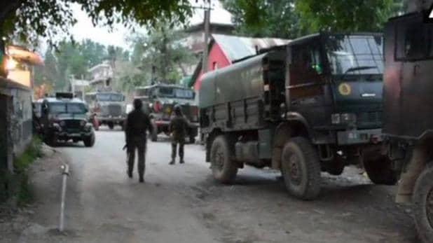 दलीपोरा इलाके में मौजूद सुरक्षाबल
