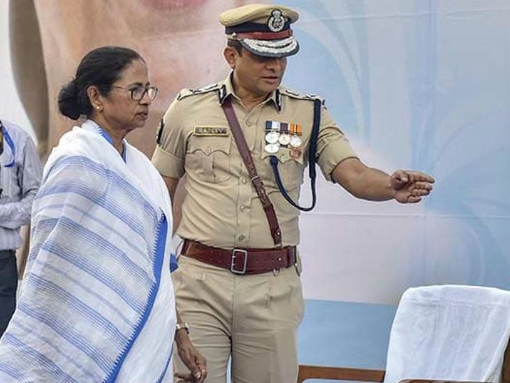 ममता बनर्जी और कोलकाता पुलिस कमिश्नर राजीव कुमार (फाइल फोटो)