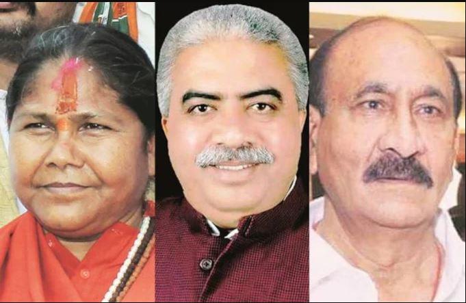 साध्वी निरंजन ज्योति, राकेश सचान और सुखदेव प्रसाद वर्मा