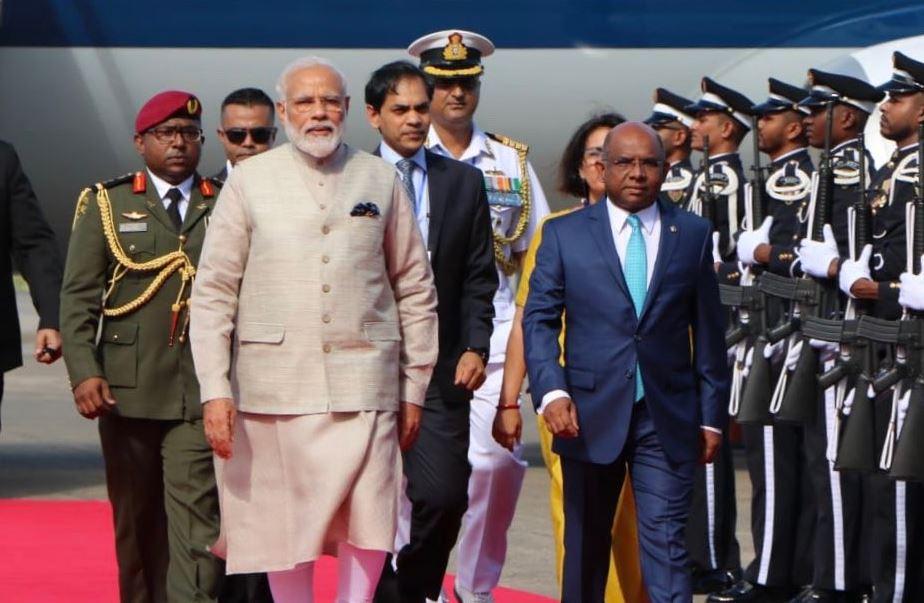 मालदीव में प्रधानमंत्री मोदी