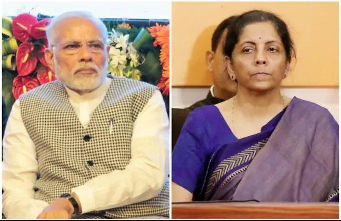 प्रधानमंत्री नरेंद्र मोदी और वित्त मंत्री निर्मला सीतारमण