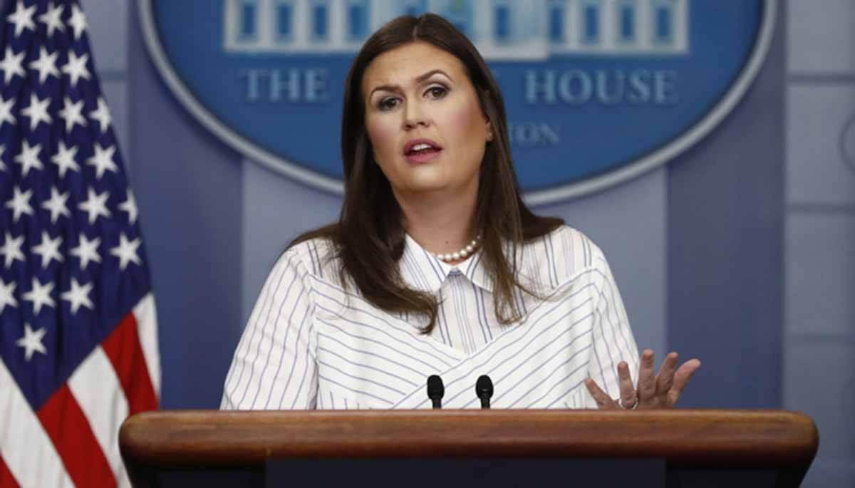 व्हाइट हाऊस की प्रेस प्रवक्ता सारा सैंडर्स