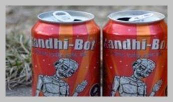 शराब की बोतलों पर राष्ट्रपिता महात्मा गांधी का चित्र