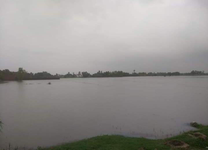 बारिश के बाद महराजगंज के एक इलाके में बाढ़ जैसे हालात