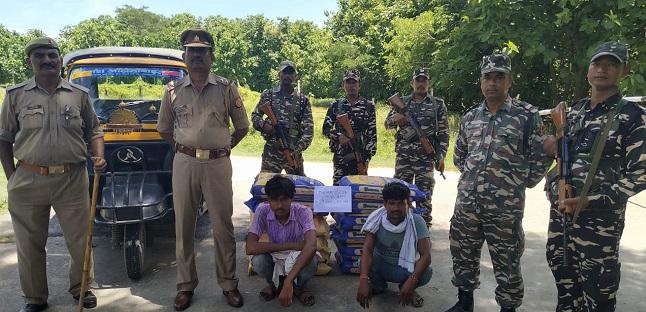 SSB और पुलिस की गश्त के दौरान पकड़े गए मटर तस्कर