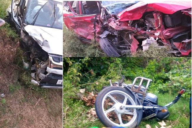 दुर्घटना के बाद क्षतिग्रस्त वाहन