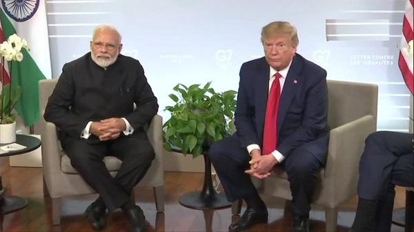 पीएम नरेंद्र मोदी और अमेरिकी राष्ट्रपति डोनाल्ड ट्रंप की बैठक