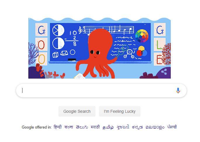 गूगल ने बनाया डूडल