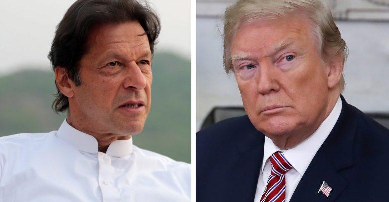 पाकिस्तानी प्रधानमंत्री इमरान खान और अमेरिकी राष्ट्रपति डोनाल्ड ट्रम्प