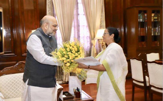 पश्चिम बंगाल की मुख्यमंत्री ममता बनर्जी और केंद्रीय गृह मंत्री अमित शाह