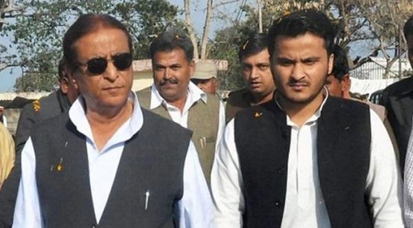 आजम खान और बेटा अब्दुल्ला आजम खान (फाइल फोटो)