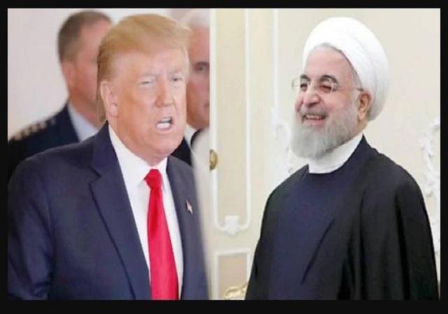 अमेरिकी राष्ट्रपति डोनाल्ड ट्रंप और ईरान के राष्ट्रपति हसन रूहानी
