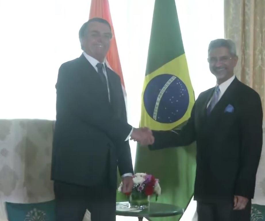 जयशंकर ने की ब्राजील के राष्ट्रपति से मुलाकात