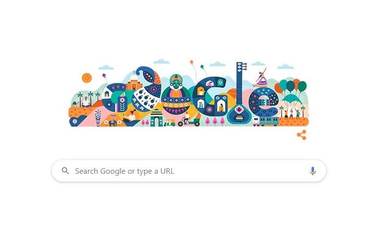 गूगल ने डूडल बनाकर मनाया गणतंत्रता दिवस
