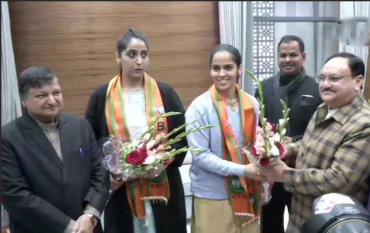 सायना नेहवाल भारतीय जनता पार्टी में हुई शामिल
