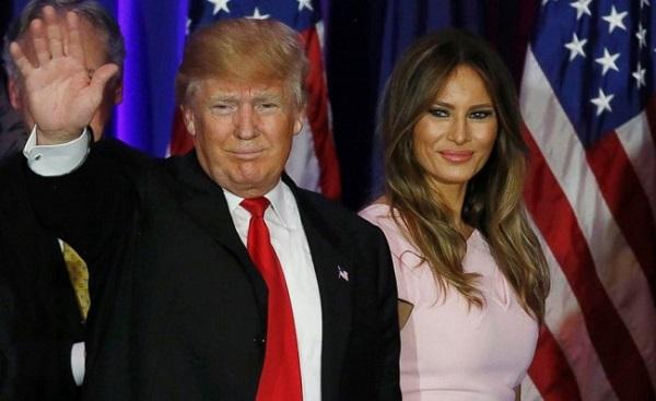 अमेरिकी राष्ट्रपति डोनाल्ड ट्रंप अपनी पत्नी के साथ (फाइल फोटो)