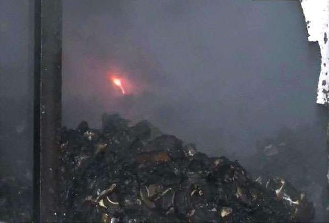 औद्योगिक क्षेत्र के गोदाम मे लगी आग