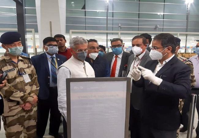 विदेश मंत्री डाॅ एस जयशंकर कोरोना वायरस से निपटने के लिये जायजा लेते हुए
