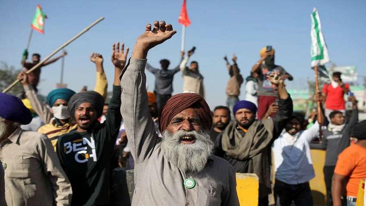 डेढ़ माह से अधिक समय से किसान आंदोलन जारी