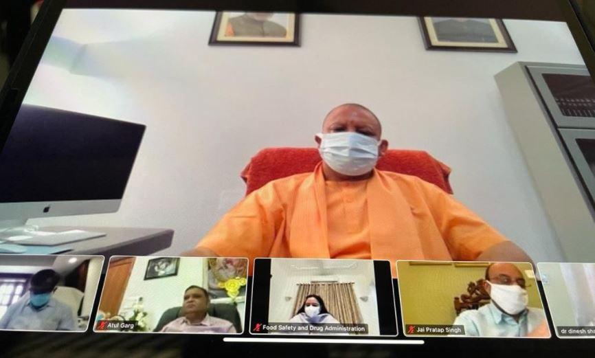 सीएम योगी ने आज सुबह वर्चुअल मीटिंग कर लिया स्थिति का जायजा