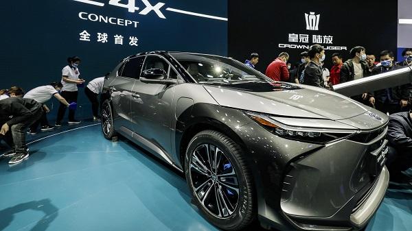 Toyota की bZ4X इलेक्ट्रिक कार (फाइल फोटो)