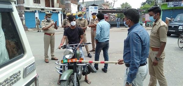 लॉकडाउन का उल्लंघन के खिलाफ पुलिस सख्त
