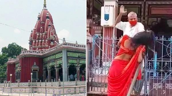 मंदिर में पूजा करने आई महिला को पुजारी ने पीटा