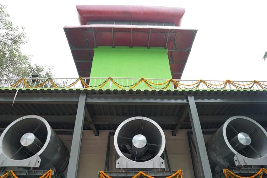 दिल्ली के कनाट प्लेस में लगा देश का पहले स्मॉग टावर
